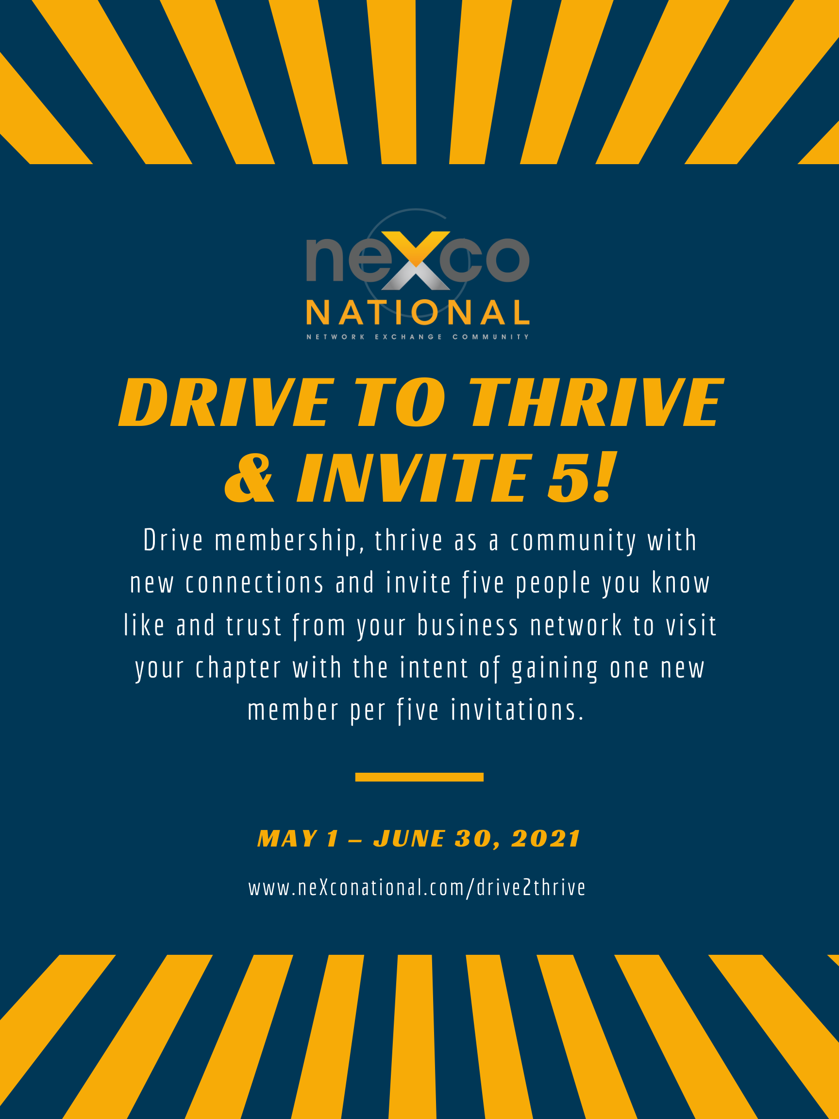 Drive to Thrive & Invite 5!