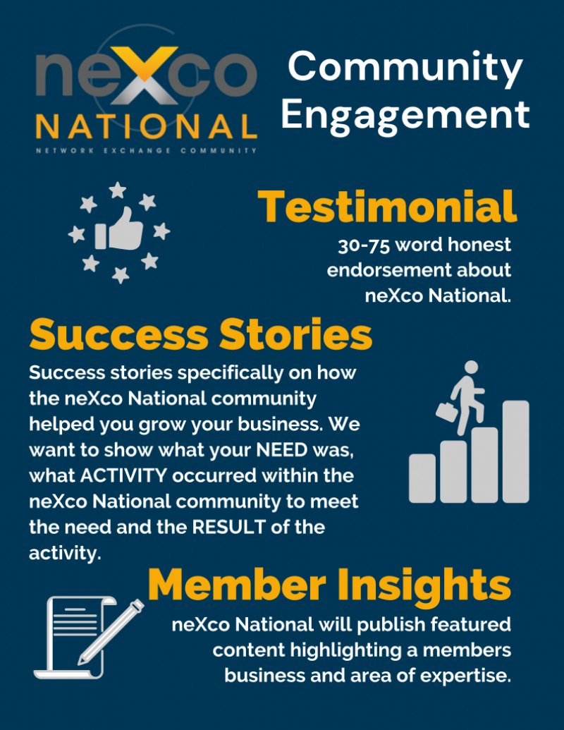 Engage with the neXco Community
